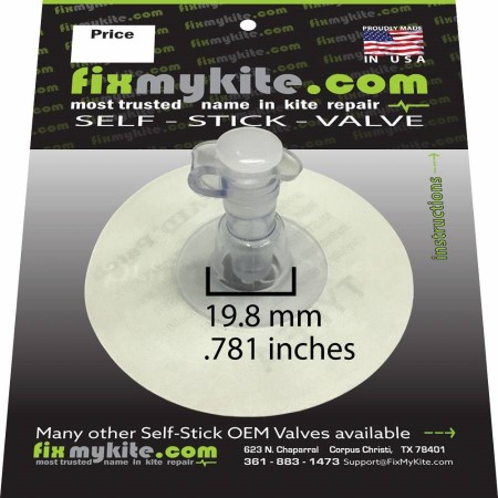 FixMyKite.com 7mm Kiteboarding Valve, 2-Way only